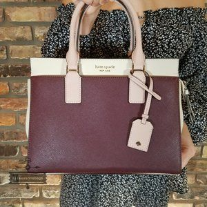 Kate Spade Cherrywood Cameron Medium Satchel New